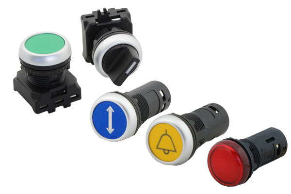 Push buttons and signaling devices